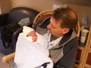 Kevin loving Baby Hayden