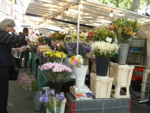 flowers on Sunday Market