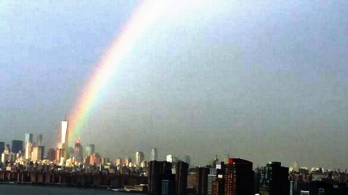 september 11 world trade center rainbow