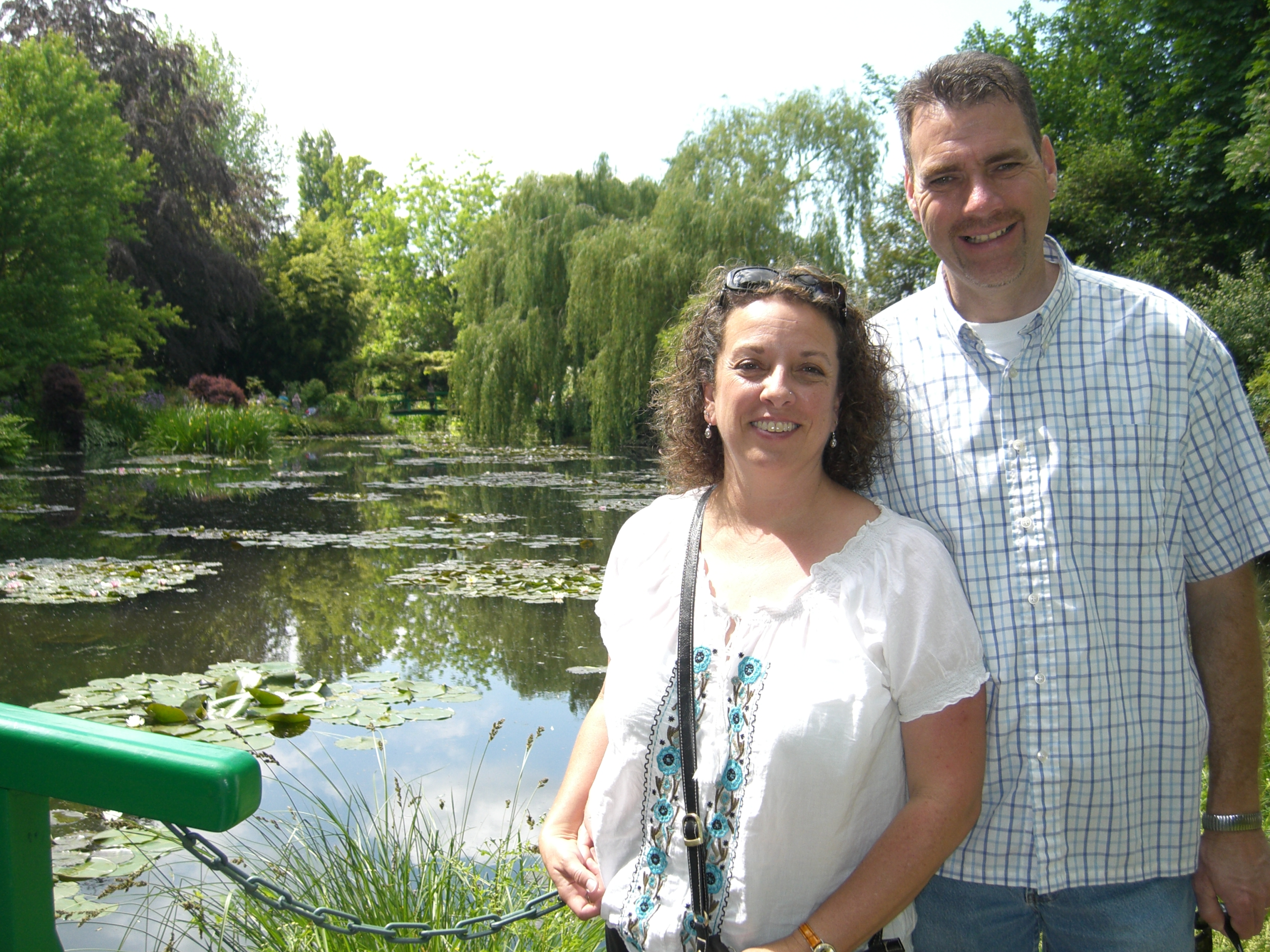 at monet's water lilly pond