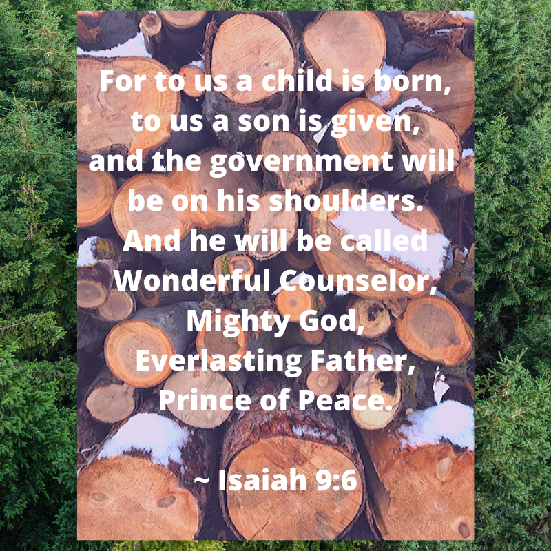 Fo . For to us a child is born, to us a son is given, and the government will be on his shoulders. And he will be called Wonderful Counselor, Mighty God, Everlasting Father, Prince of Peace. ~ Isaiah 9_6